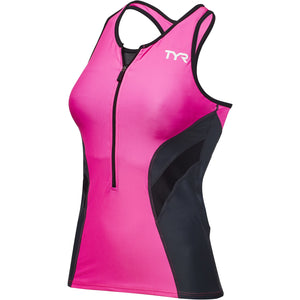 TYR WOMEN'S PINK/GREY COMPETITOR TRI TANK