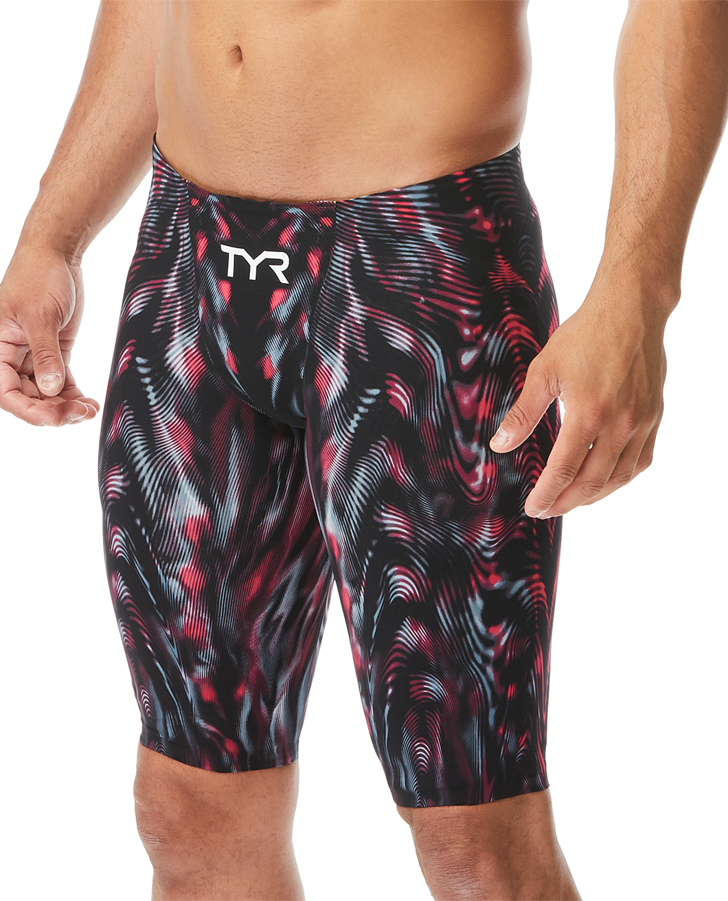 TYR STEEL RED VENZO GENESIS JAMMER SWIMSUIT