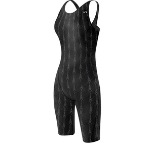 TYR WOMEN'S BLACK FUSION 2 AEROFIT SWIMSUIT