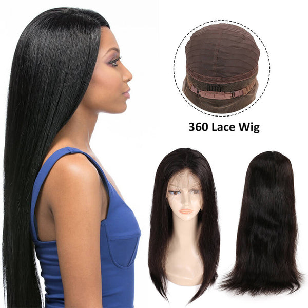 360 Lace Wig straight weave