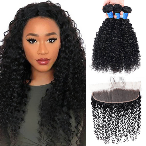 human hair lace front bundles