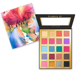 GLAMOUR ME 20 COLOR EYESHADOW PALETTE + MIREYAMUA DUO LIPPIES