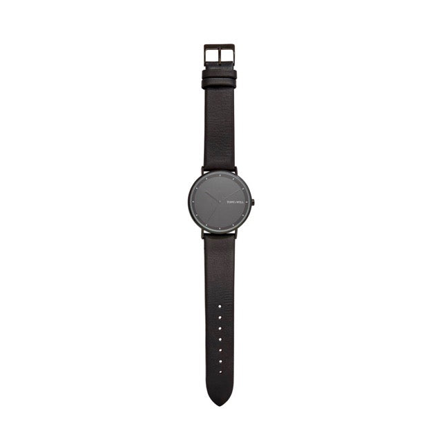 WATCH-LUNAR-BLACK LEATHER