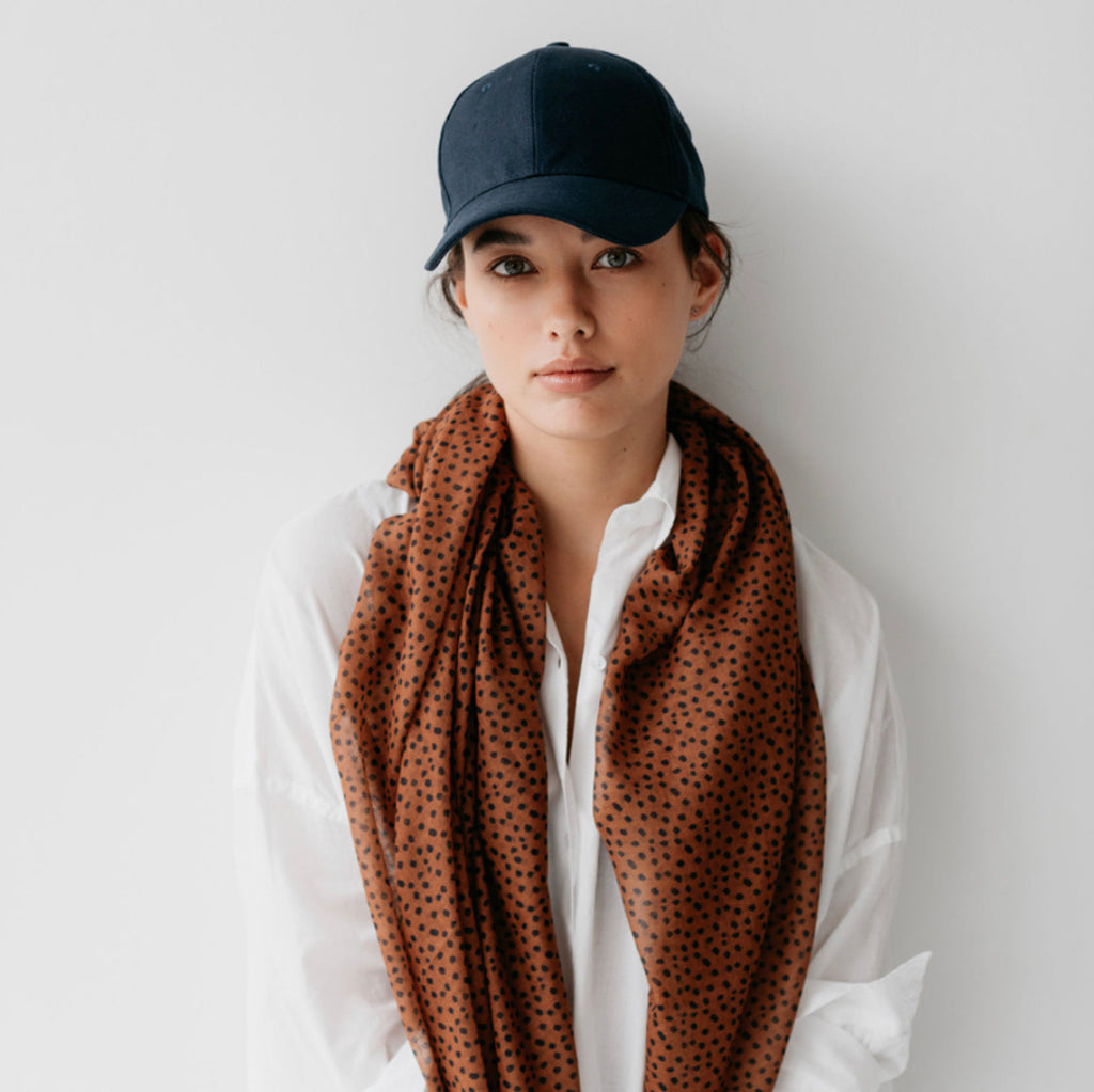 FRECKLES MAXI SCARF SPICE