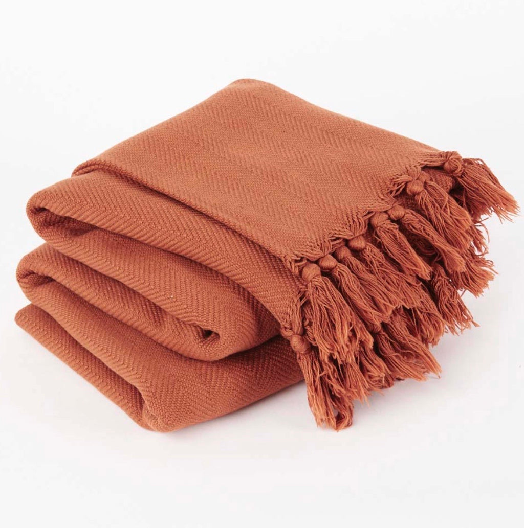 VINTAGE WASH TOBACCO BLANKET