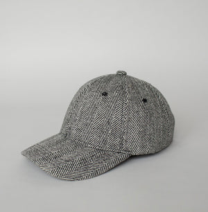 WOOL CAP HERRINGBONE