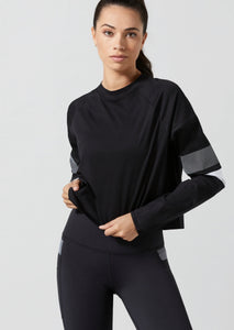 BLACK LISSARA CROPPED SWEATER