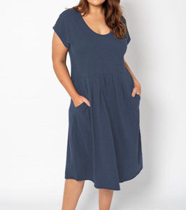 EVELYN DRESS INDIGO
