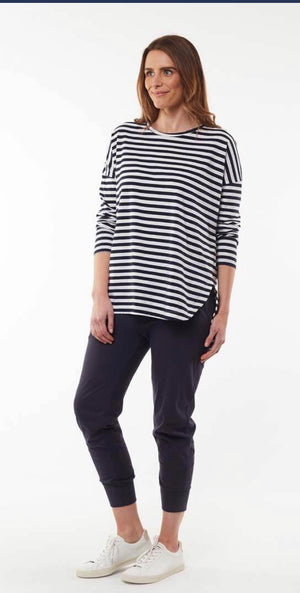 SOCIETY STRIPE L/S TEE
