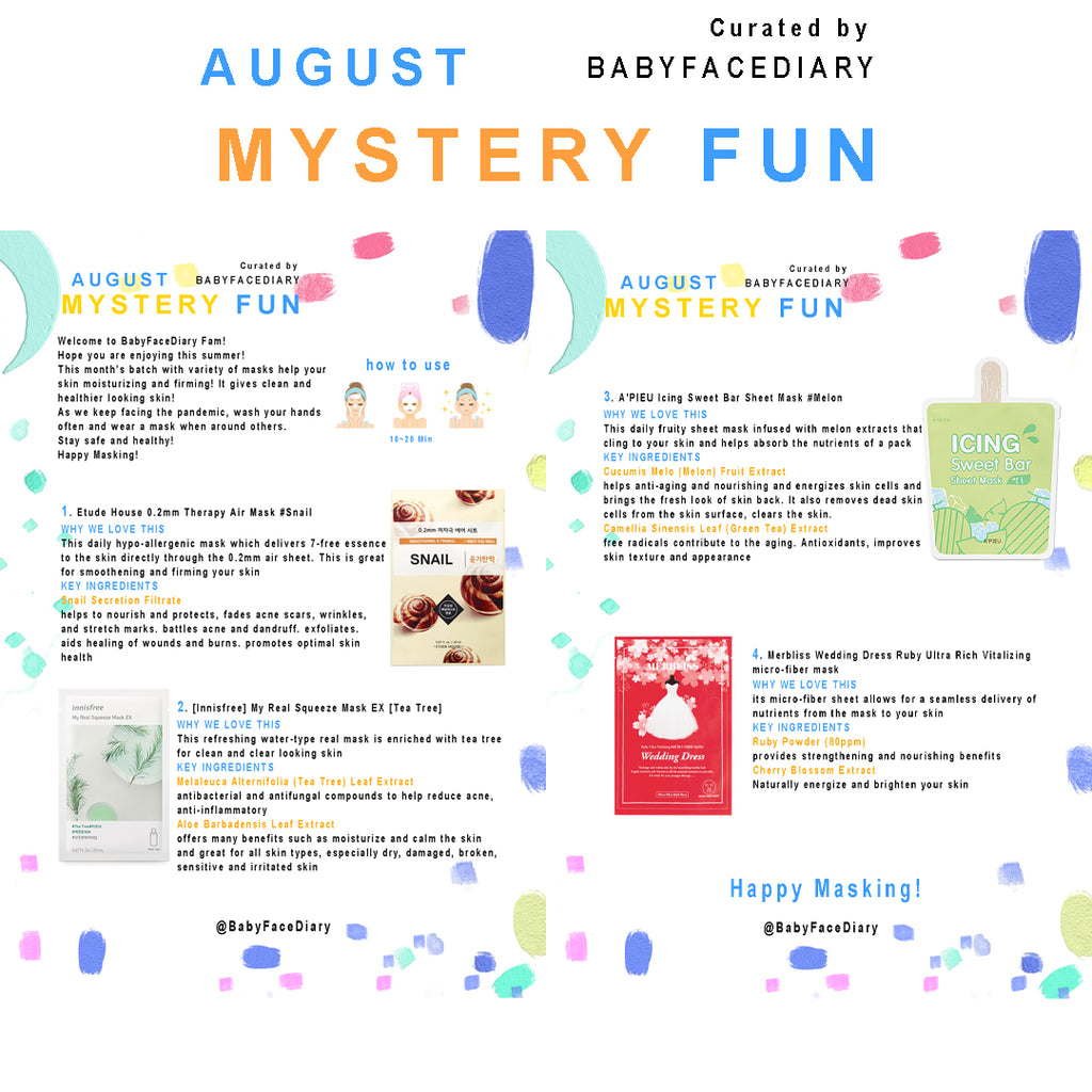 2020 August Mystery Fun