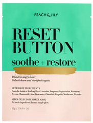 peach and lily reset button soothe restore sheet mask