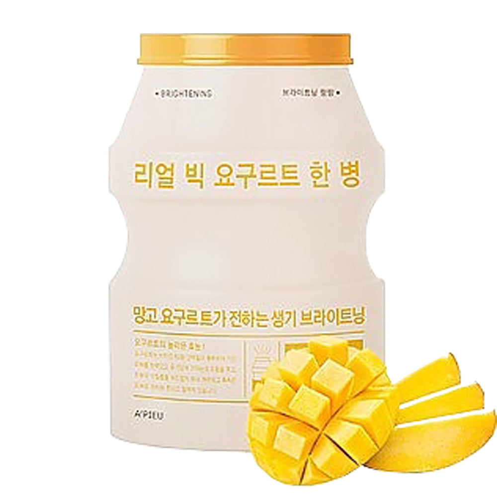 [A'PIEU] Real Big Yogurt One-Bottle #Mango - Sheet Mask