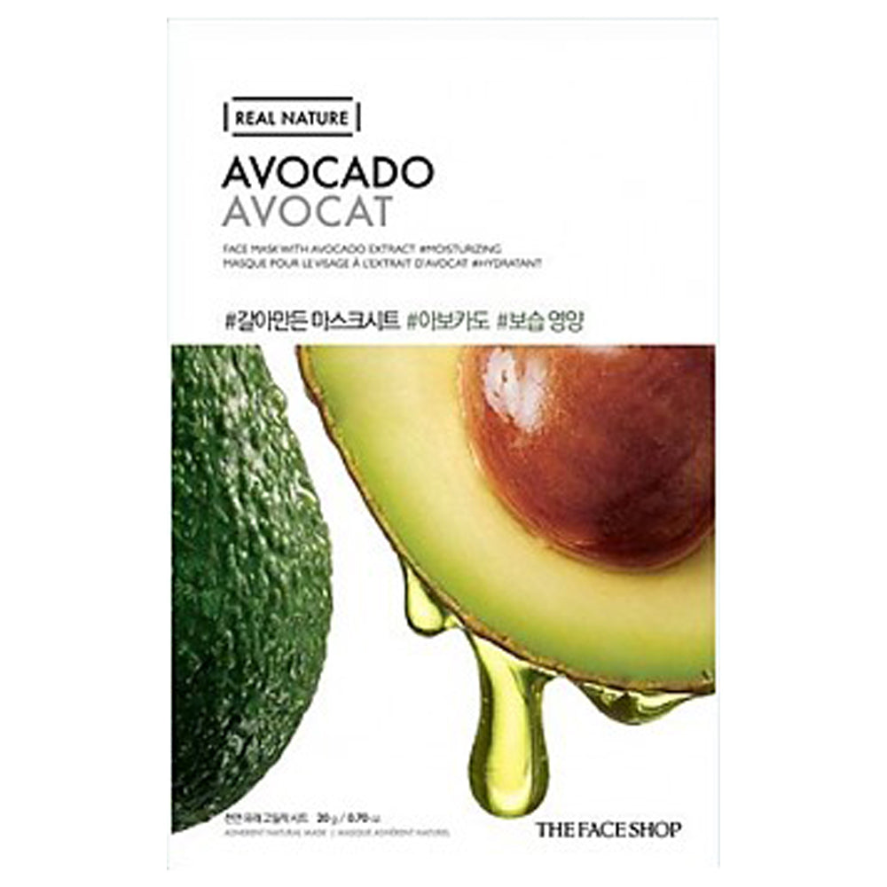 [THEFACESHOP] Real Nature Avocado Mask (10 pack)