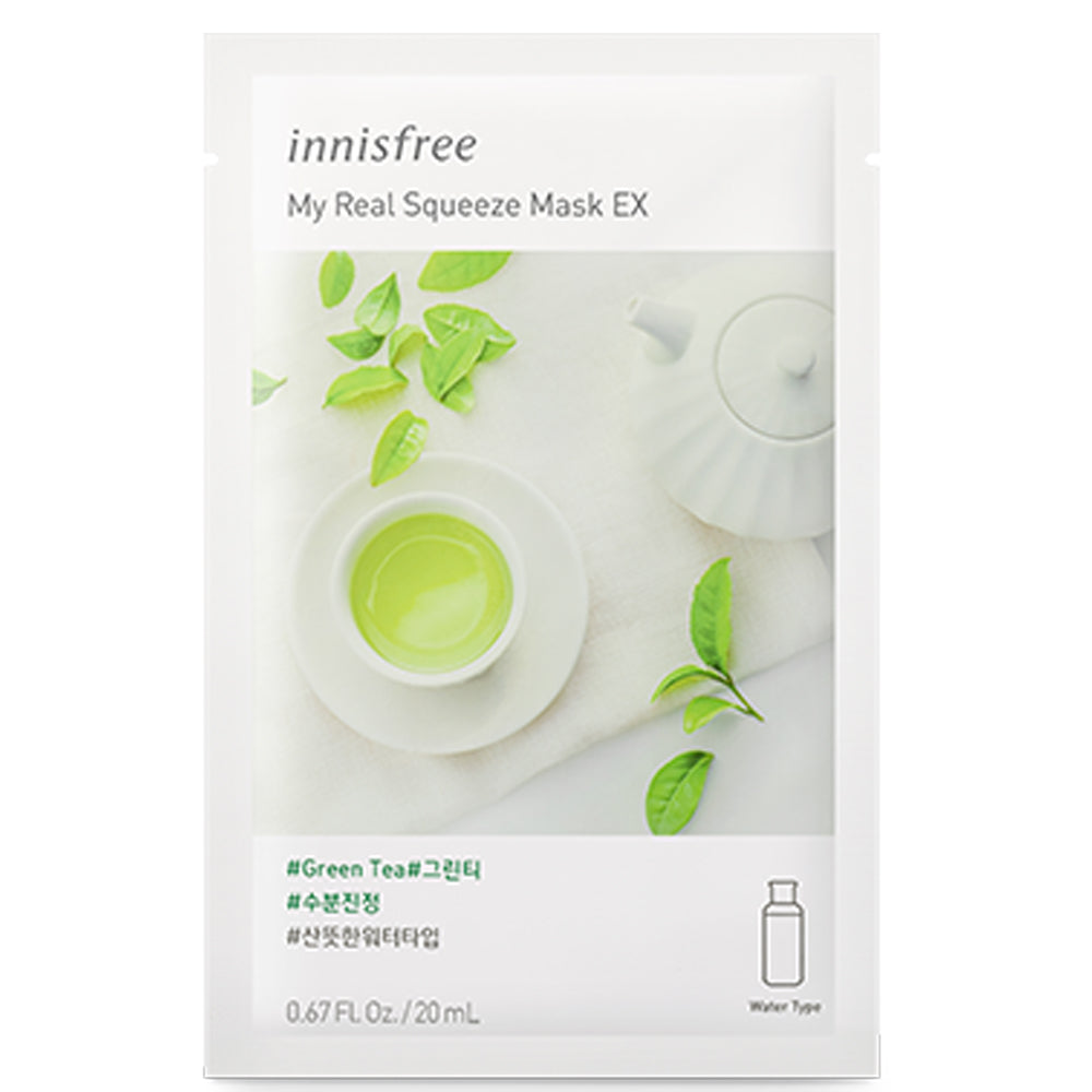 [Innisfree] My Real Squeeze Mask EX Green Tea (10 pack)