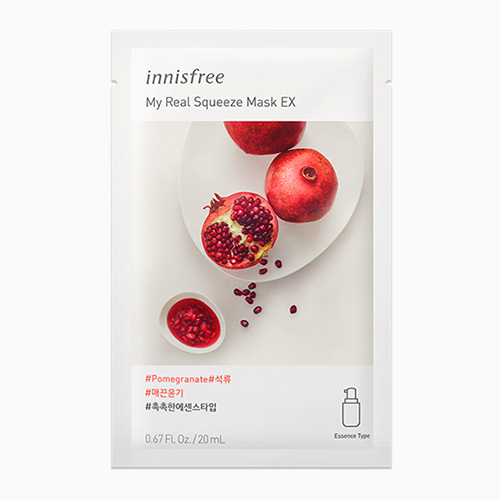 [Innisfree] My Real Squeeze Mask EX Pomegranate (10 pack) exp 08/05/21