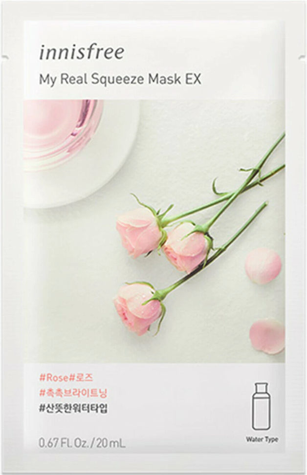 [Innisfree] My Real Squeeze Mask EX Rose