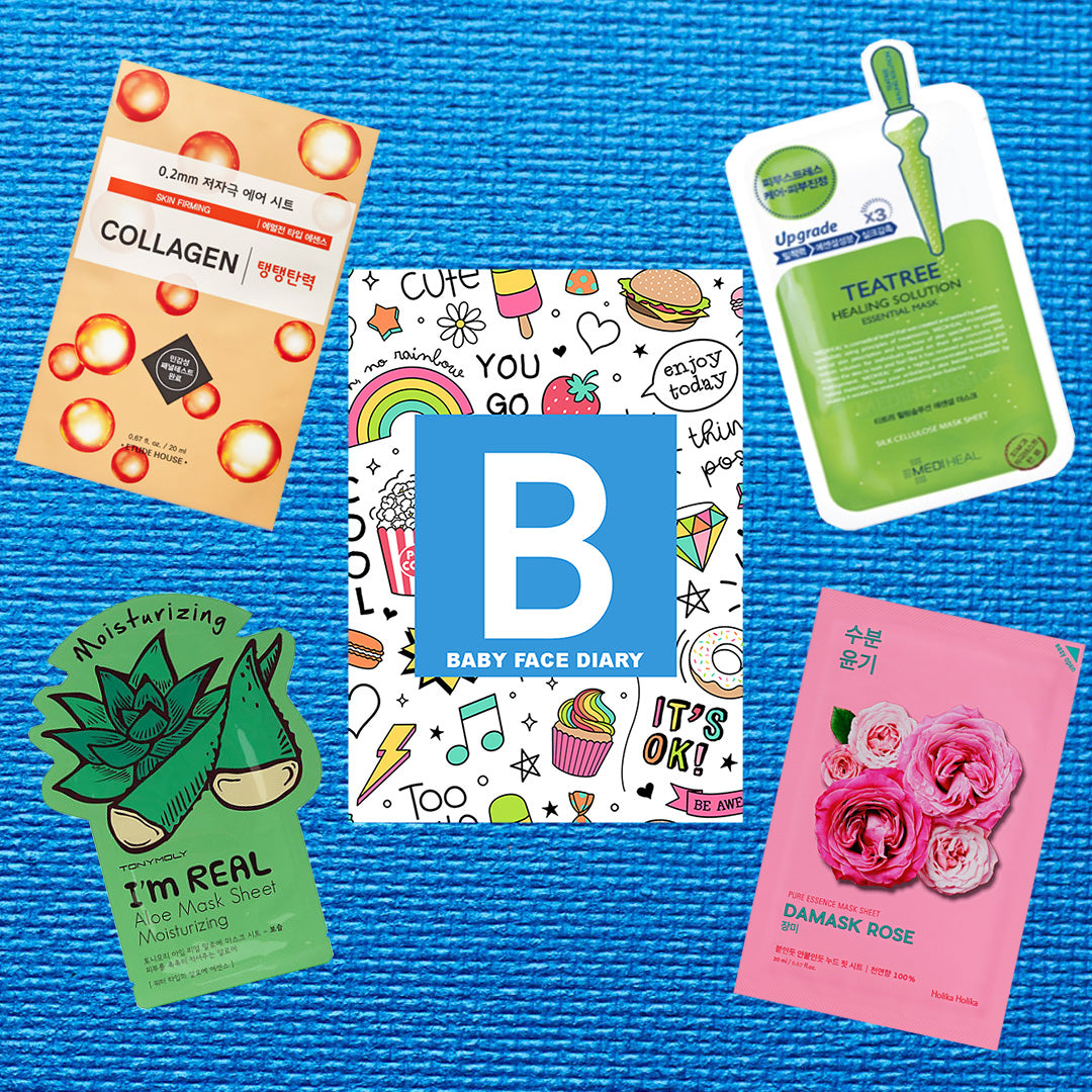 baby face diary mystery fun monthly korean sheet mask subscription