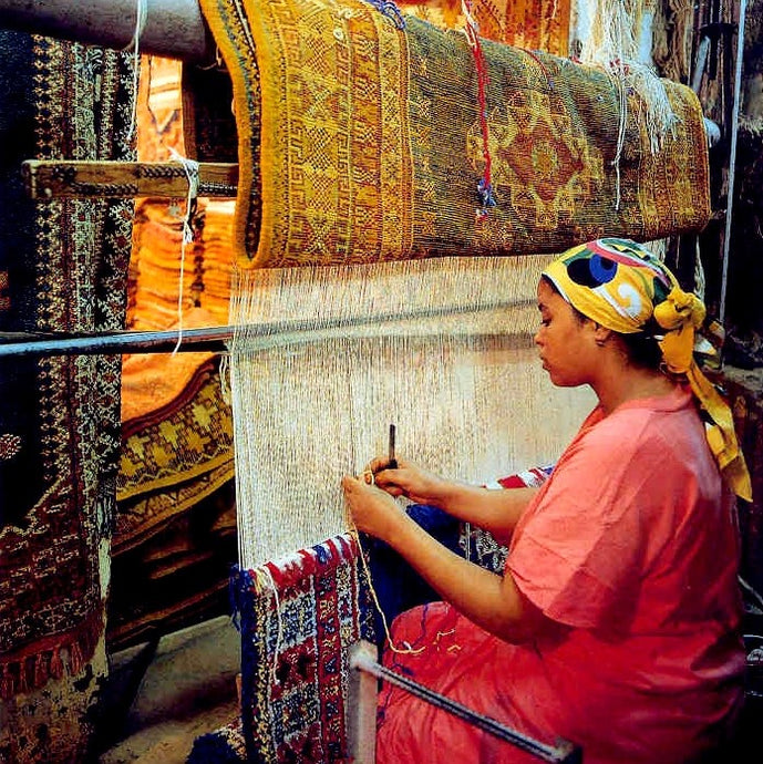 Rug looming - Morocco