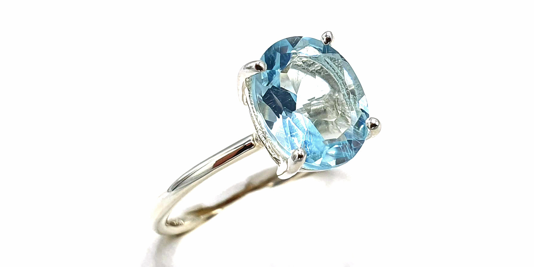 Sky Blue Topaz Sterling Silver Ring - November Birthstone Ring