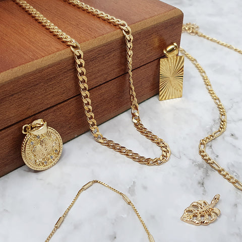 Gold Miami Necklace & Pendant Charms