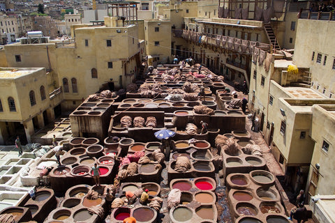 Harfi - leather tannery Morocco