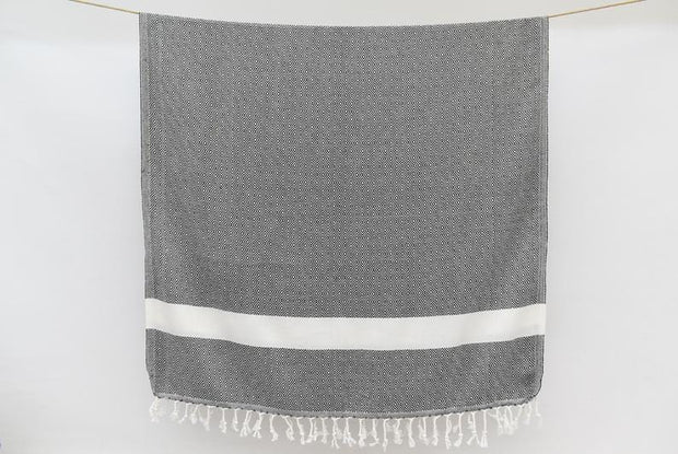 Destan Hammam Towel, Black