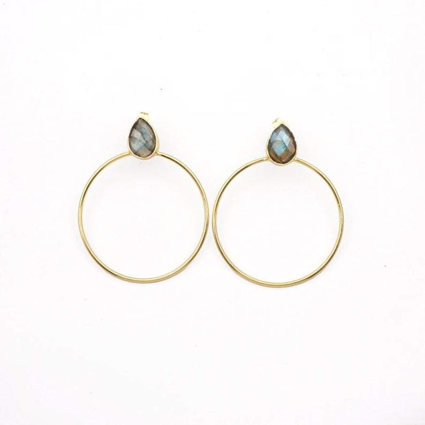 Labradorite Riya earrings