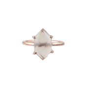 Mahika - Morganite Quartz Hexagon Prong Set Ring,
