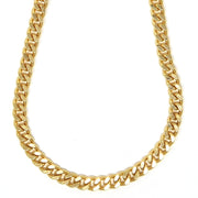"18k gold filled, 9mm wide, 18"" long  Miami cuban chain"