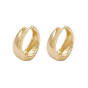 Gold Coco Thick Huggie Earrings