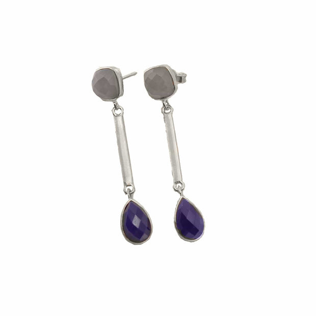Michelle amethyst earrings. February birthstone earrings.