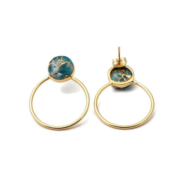 December birthstone earrings.