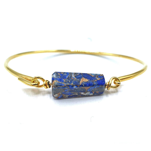 Copper Lapis Lazuli Gold Vermeil Bracelet September Birthstone Bracelet