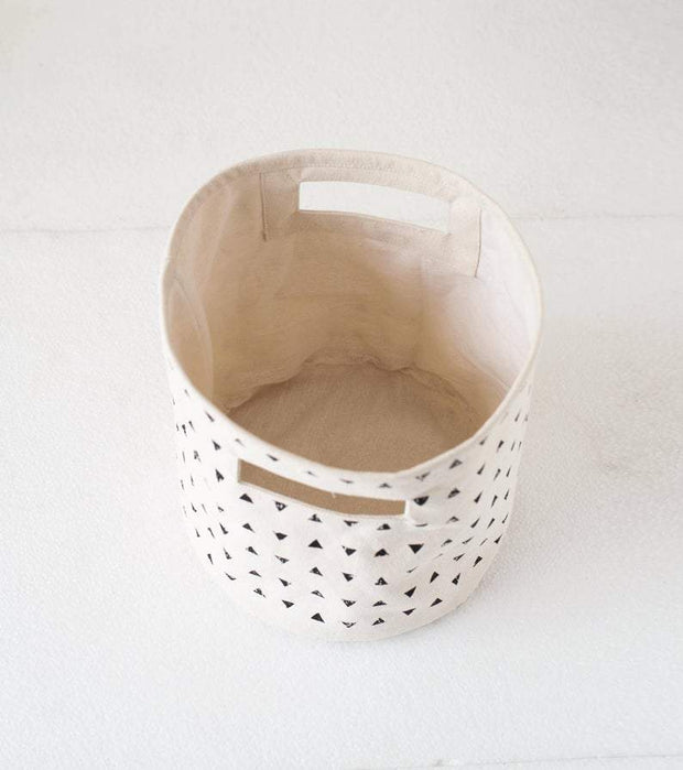 Neha - Small Triangle Print Storage Basket