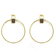 Boho Hoop Gold Plated Earrings