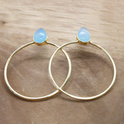 Blue Chalcedony Riya earrings