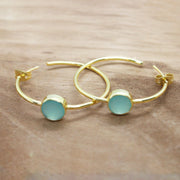 Aqua Chalcedony Saira earrings