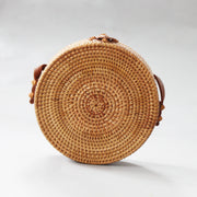 Kara - crossbody, rattan summer handbag