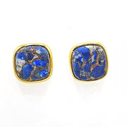 Copper Lapis Lazuli Gold Vermeil Earrings - September Birthstone Earrings