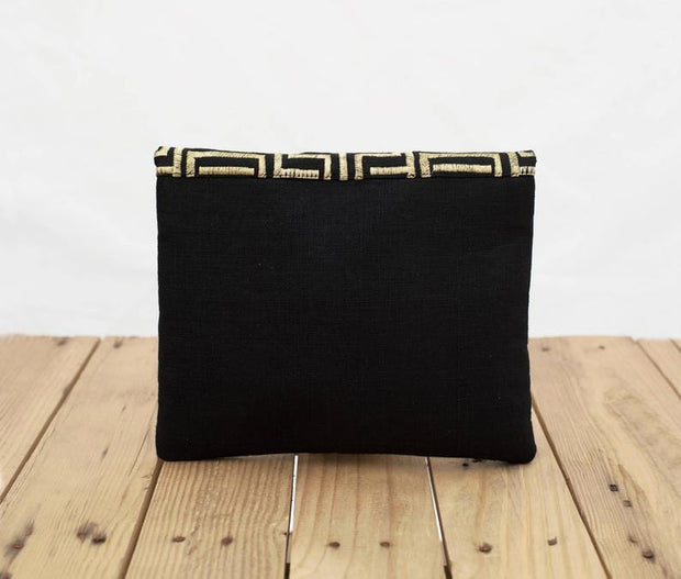 Lasya - Black And Gold Mola Purse