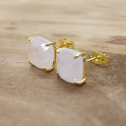 Omisha Rose Quartz gemstone earrings