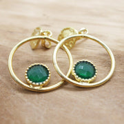 Emerald Gemstone Ira earrings