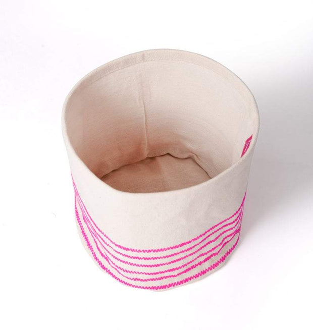 Chetana - Small Bright Pink Storage Basket