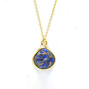 Lapis Lazuli Gold Vermeil Gemstone Necklace - September Birthstone Necklace
