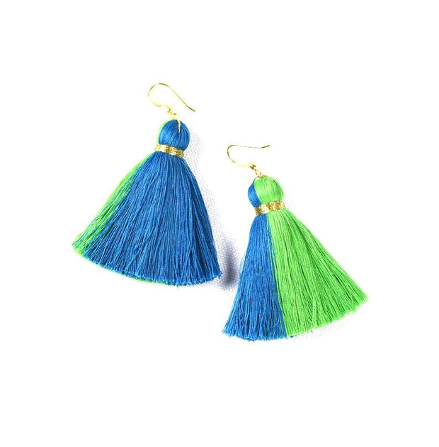 Blue and Green Adya earrings
