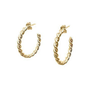 Gold Coco Rope Hoop Earrings