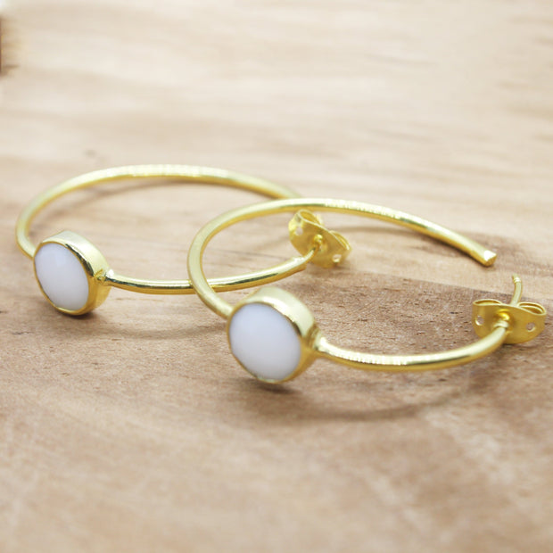 White Saira earrings