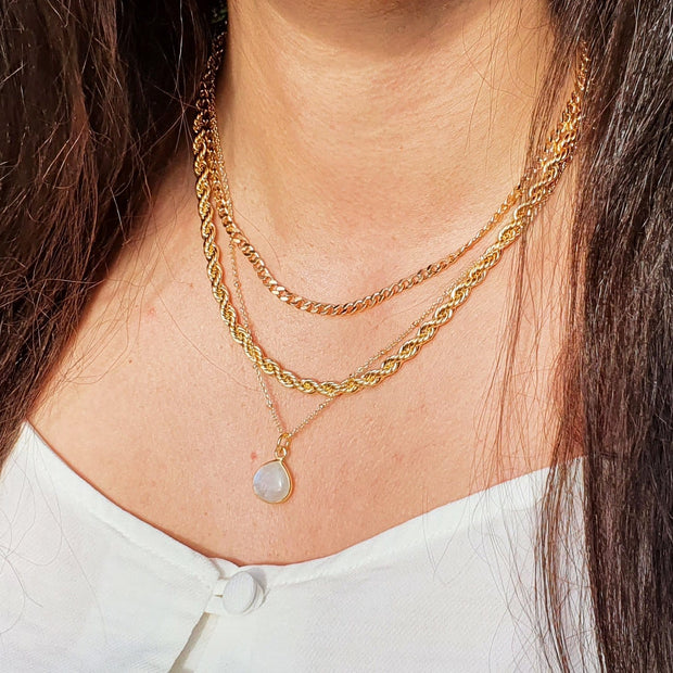 18k Gold Vermeil Moonstone Necklace