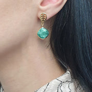Green Amazonite Earrings