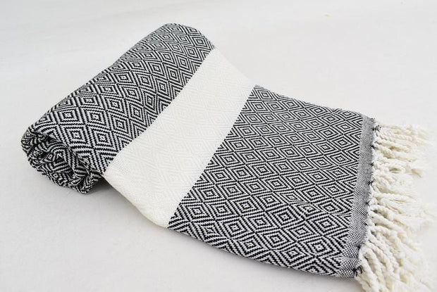 Black & White Hammam Turkish towel